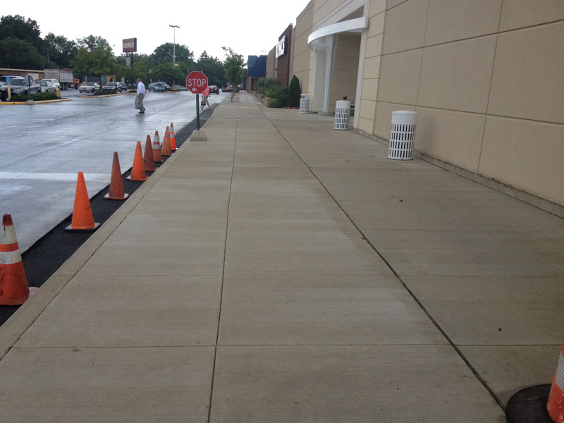 New Concrete and Asphalt at Kohls Department Store Wilmington, DE